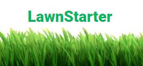 Lawn Starter logo with grass at bottom